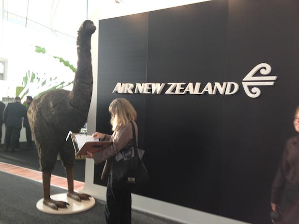 Estande da Air NZ na TRENZ