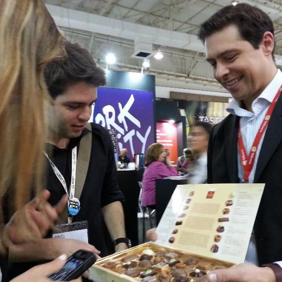 Os chocolates do stand da Suíça fizeram sucesso. Foto: Celina Martins