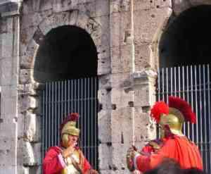 Evite fotos com os famosos Gladiadores Romanos (Foto: Alfredo Santucci)