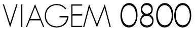 Logo Viagem 0800